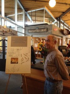 The AFOW board honored Rod Rohda with a $15,000 grant to the Whistler Public Library